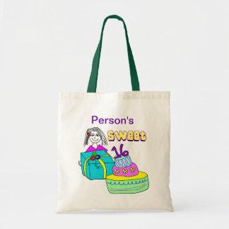 Personalizable del dulce 16 bolsa tela barata