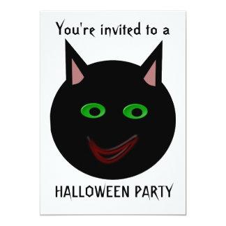 """Personalizable del fiesta de Halloween del gato Invitación 5"""" X 7"""""""