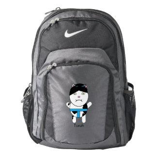 Personalizable del gatito del sumo mochila