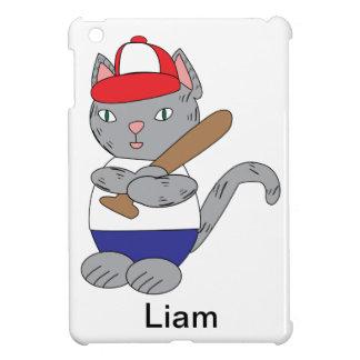 Personalizable del gato del béisbol iPad mini protectores