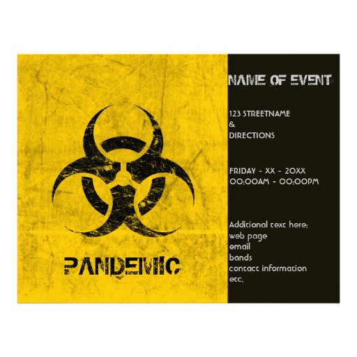 Personalizable del Grunge del Biohazard de la plan Tarjetón