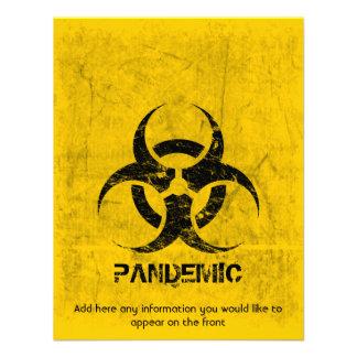 Personalizable del Grunge del Biohazard de la plan Comunicado Personalizado