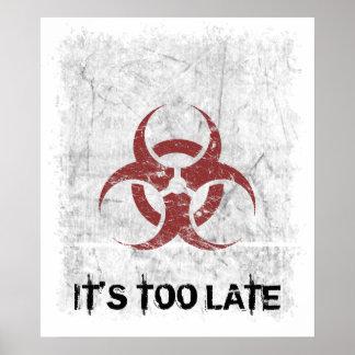 Personalizable del Grunge del Biohazard Poster