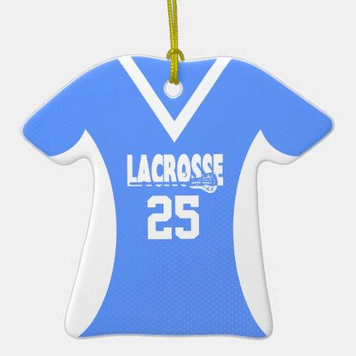 Personalizable del jersey de LaCrosse azul claro Adornos