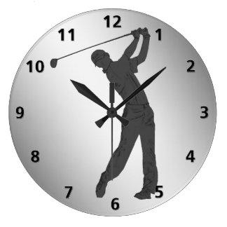 Personalizable del libertino del golf reloj redondo grande