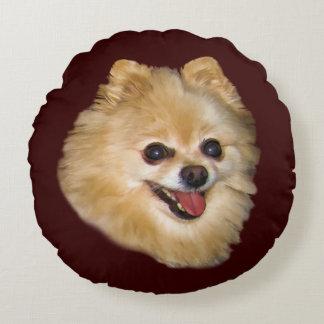 Personalizable del perro de Pomeranian Cojín Redondo