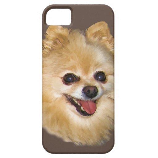 Personalizable del perro de Pomeranian iPhone 5 Case-Mate Carcasas
