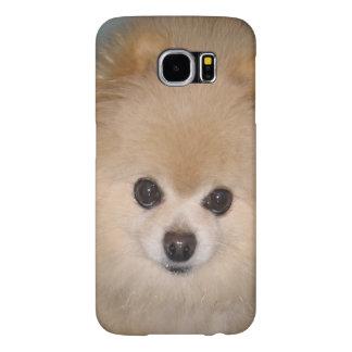 Personalizable del perro de Pomeranian Fundas Samsung Galaxy S6
