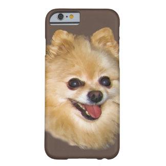 Personalizable del perro de Pomeranian Funda De iPhone 6 Barely There
