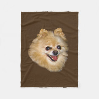 Personalizable del perro de Pomeranian Manta De Forro Polar