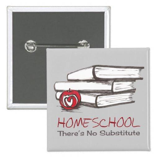 Personalizable del Pin el   de Homeschooling el   Pin Cuadrada 5 Cm