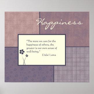 Personalizable del poster de la cita de la felicid