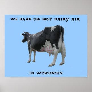 Personalizable del poster del aire de la lechería póster