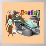 Personalizable del poster del dentista--Regalo úni