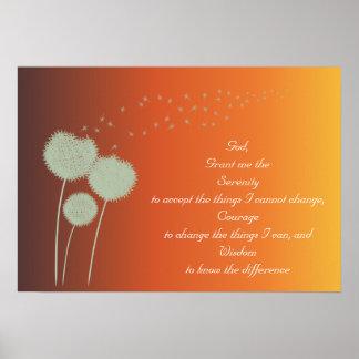 Personalizable del rezo de la serenidad de los póster
