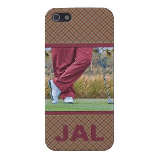 Personalizable del tiempo del tee de golf iPhone 5 fundas
