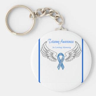 Personalizable del Trisomy 18 en memoria cariñosa Llaveros Personalizados