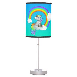 Personalizable del unicornio del deseo del arco lámpara de mesa