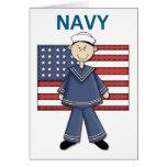 Personalizable del varón de la marina de guerra tarjeta