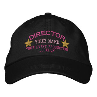 Personalizable DIRECTOR Stars Cap Embroidery Embroidered Baseball Cap