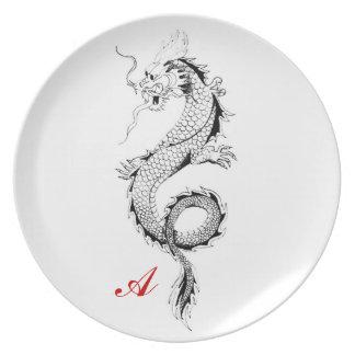 Personalizable Dragón 2 del Año Nuevo Platos De Comidas