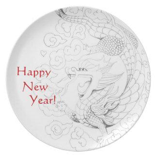 Personalizable Dragón del Año Nuevo Platos