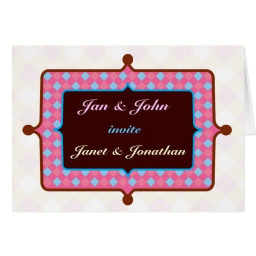 Personalizable: El color del caramelo invita Felicitaciones
