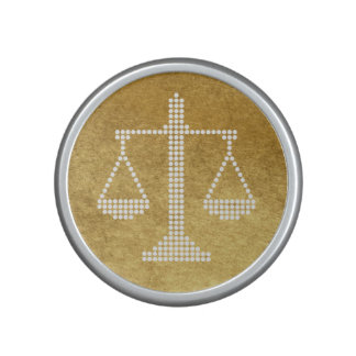 Personalizable Elegant Scales of Justice Speaker