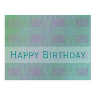 personalizable en colores pastel birthdy feliz del tarjeta postal