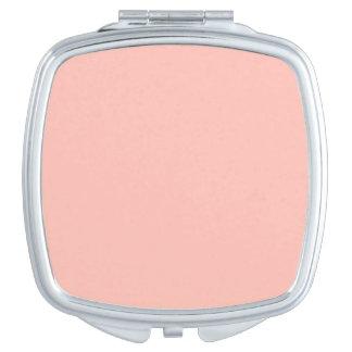 Personalizable en colores pastel del melocotón del espejos para el bolso