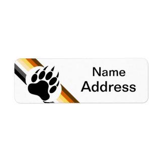 Personalizable especial del orgullo del oso etiqueta de remitente