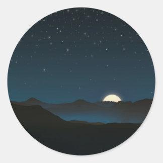 Personalizable estrellado del cielo el | pegatina redonda