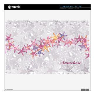 Personalizable: Estrellas de mar MacBook Calcomanía