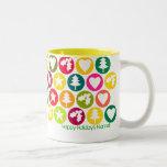 Personalizable: Favoritos del navidad brillantes Tazas De Café