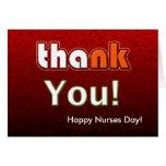 Personalizable feliz del día de las enfermeras tarjeta