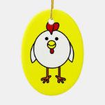¡Personalizable feliz lindo del pollo! Ornamentos De Reyes Magos