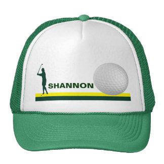 Personalizable femenino del gorra del golf