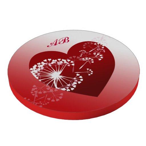 Personalizable: Flor del corazón y del diente de Fichas De Póquer