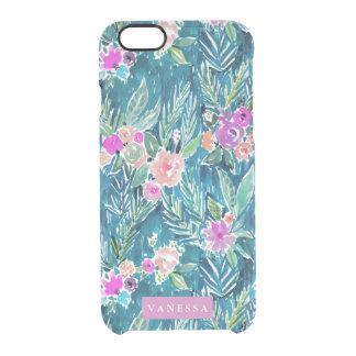 PERSONALIZABLE floral del paraíso tropical de la Funda Clearly™ Deflector Para iPhone 6 De Uncommon