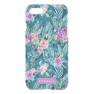 PERSONALIZABLE floral del paraíso tropical de la Funda Para iPhone 7