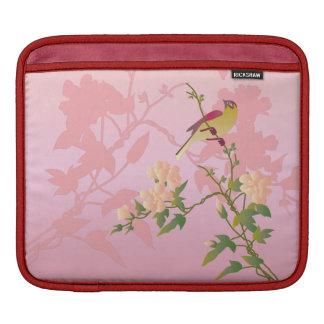 Personalizable: Flores y pájaro Funda Para iPads