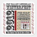 Personalizable FVL Winterfest 2012 americana Calcomanía Cuadrada