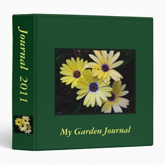 Personalizable Garden Journal Binder