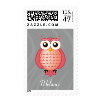Personalizable   Girly Wise Owl Postage
