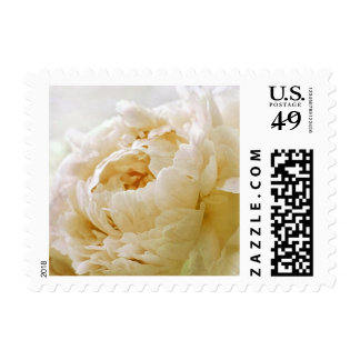 Personalizable Golden Yellow Peony Postage Stamps