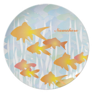 Personalizable Goldfish Plato De Comida