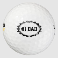 Personalizable golf balls for No. 1 DAD