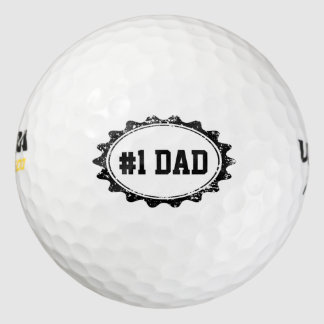 Personalizable golf balls for No. 1 DAD Pack Of Golf Balls