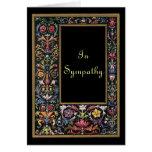 Personalizable gótico de la tarjeta de condolencia