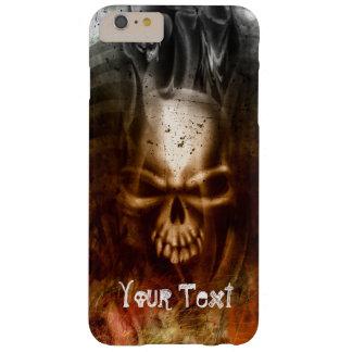 Personalizable gótico del cráneo funda para iPhone 6 plus barely there